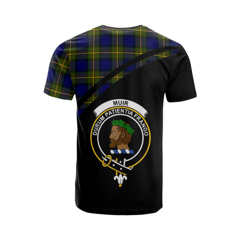 Tartan Shirt - Muir Clan Tartan Plaid T-Shirt Curve Version Back