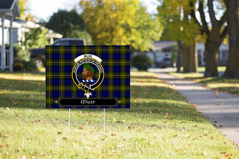 ScottishShop Muir Yard Sign - Tartan Crest Yard Sign