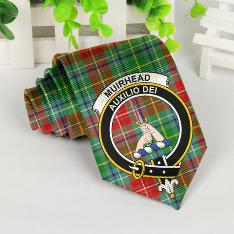 Image of Muirhead Tartan Tie with Clan Crest TH8