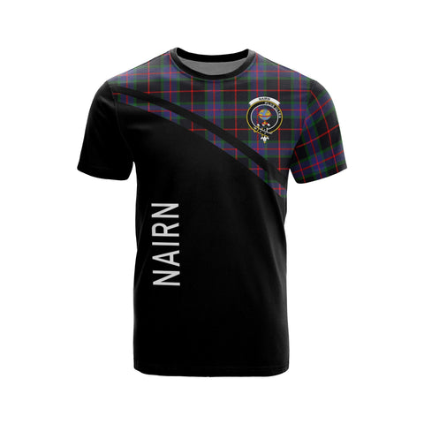 Tartan Shirt - Nairn Clan Tartan Plaid T-Shirt Curve Version Front