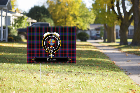 ScottishShop Nairn Yard Sign - Tartan Crest Yard Sign