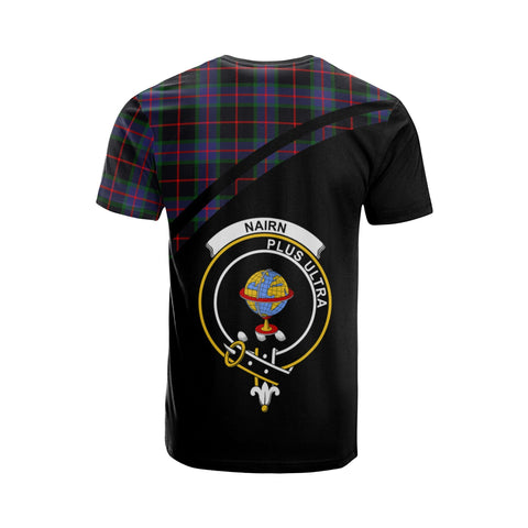 Tartan Shirt - Nairn Clan Tartan Plaid T-Shirt Curve Version Back