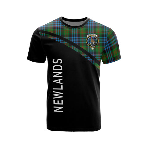 Tartan Shirt - Newlands Clan Tartan Plaid T-Shirt Curve Version Front