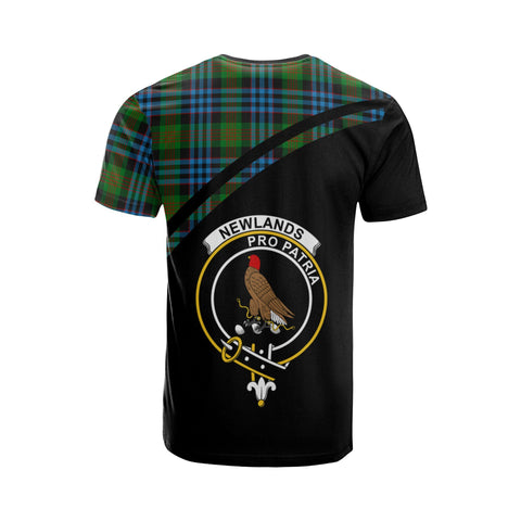 Tartan Shirt - Newlands Clan Tartan Plaid T-Shirt Curve Version Back