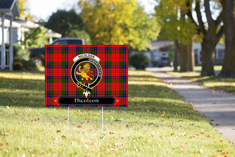 ScottishShop Nicolson Yard Sign - Tartan Crest Yard Sign