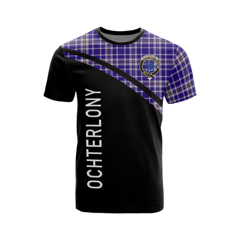 Image of Tartan Shirt - Ochterlony Clan Tartan Plaid T-Shirt Curve Version Front