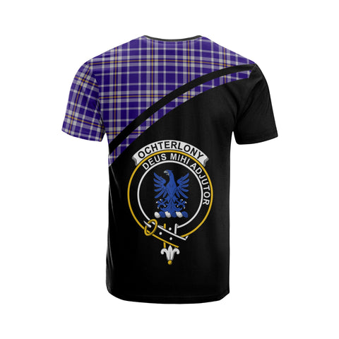 Tartan Shirt - Ochterlony Clan Tartan Plaid T-Shirt Curve Version Back