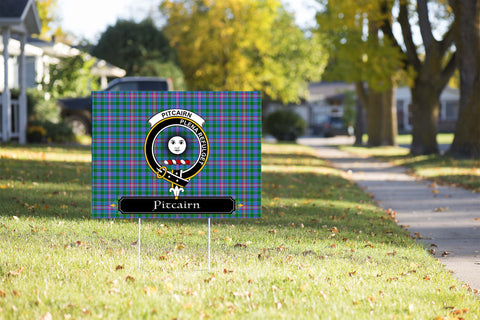 ScottishShop Pitcairn Yard Sign - Tartan Crest Yard Sign