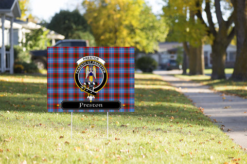 ScottishShop Preston Yard Sign - Tartan Crest Yard Sign