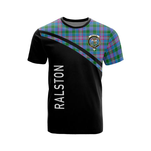 Tartan Shirt - Ralston Clan Tartan Plaid T-Shirt Curve Version Front