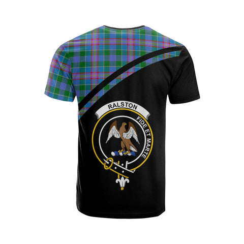Tartan Shirt - Ralston Clan Tartan Plaid T-Shirt Curve Version Back