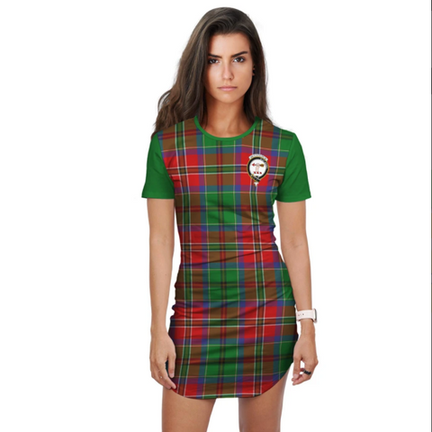 ScottishShop T-shirt Dress - Clan McCulloch Tartan Plaid T-shirt Dress