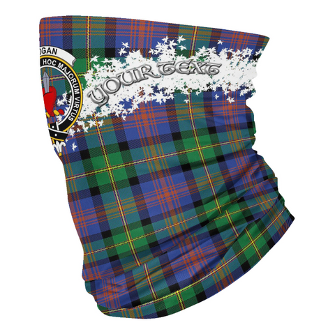 Tartan Logan Ancient - Clan Logan Crest Neck Gaiter
