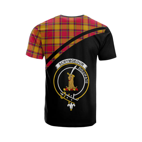 Tartan Shirt - Scrymgeour Clan Tartan Plaid T-Shirt Curve Version Back