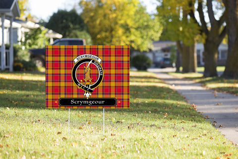 ScottishShop Scrymgeour Yard Sign - Tartan Crest Yard Sign
