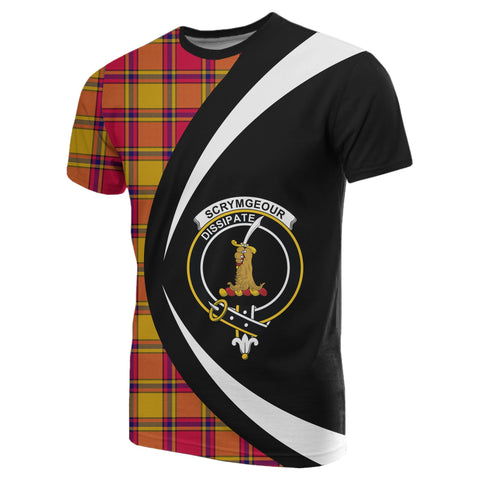 Image of Scrymgeour Tartan T-shirt Circle