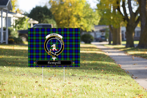 ScottishShop Sempill Yard Sign - Tartan Crest Yard Sign