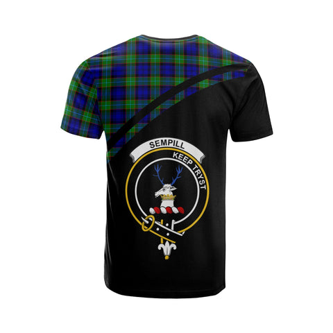 Tartan Shirt - Sempill Clan Tartan Plaid T-Shirt Curve Version Back