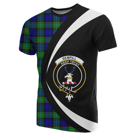 Image of Sempill Modern Tartan T-shirt Circle