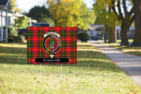 ScottishShop Somerville Yard Sign - Tartan Crest Yard Sign