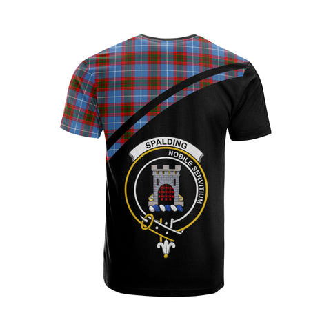 Tartan Shirt - Spalding Clan Tartan Plaid T-Shirt Curve Version Back