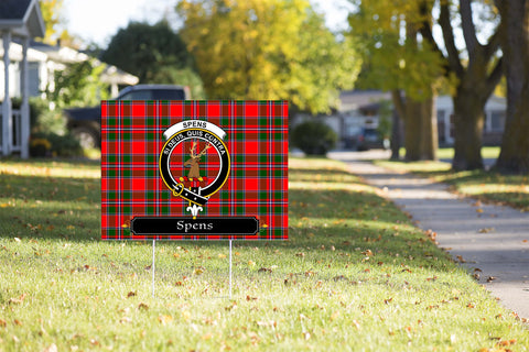 ScottishShop Spens (or Spence) Yard Sign - Tartan Crest Yard Sign