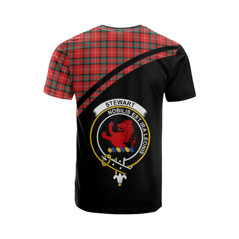 Image of Stewart (Stuart) of Bute Tartan All Over T-Shirt - Curve Style