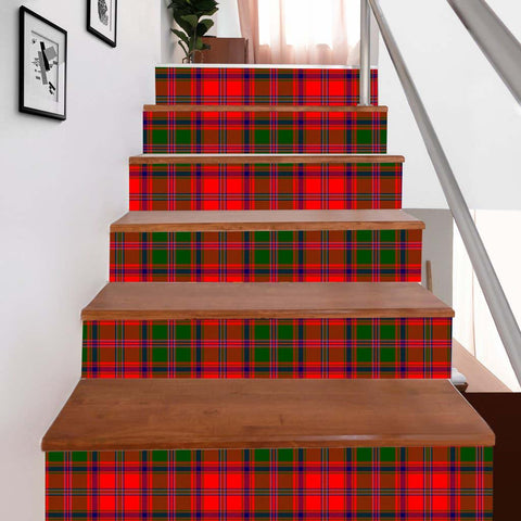Scottishshop Tartan Stair Stickers - Stewart (of Appin) Stair Stickers - NAC