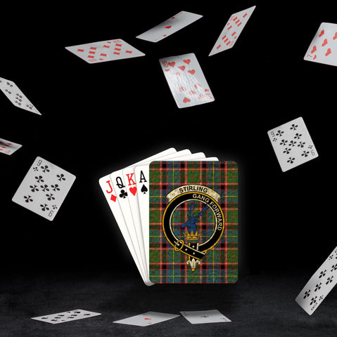 ScottishShop Stirling (of Cadder-Present Chief) Playing Card - Tartan Playing Card Royal Style