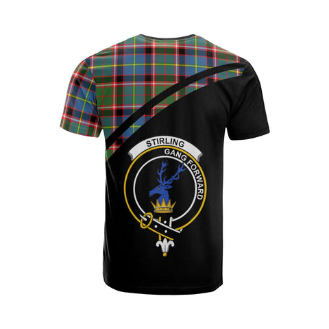 Stirling (of Cadder-Present Chief) Tartan All Over T-Shirt - Curve Style