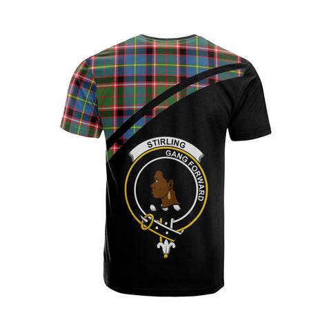 Stirling (of Keir) Tartan All Over T-Shirt - Curve Style