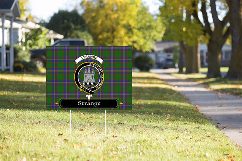 ScottishShop Strange (or Strang) Yard Sign - Tartan Crest Yard Sign