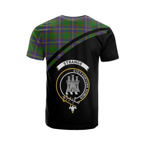 Tartan Shirt - Strange (or Strang) Clan Tartan Plaid T-Shirt Curve Version Back