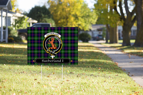 ScottishShop Sutherland I Yard Sign - Tartan Crest Yard Sign