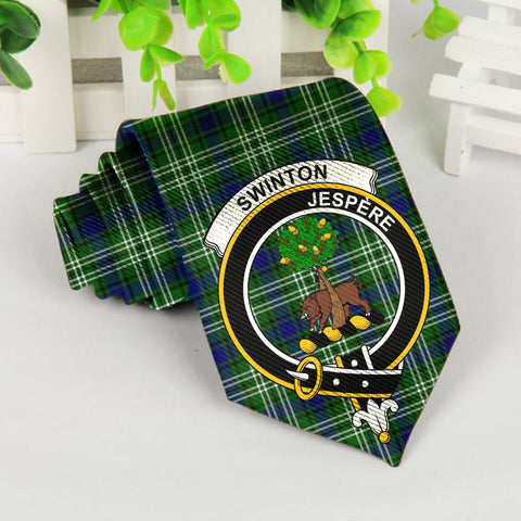 Image of Swinton Tartan Tie with Clan Crest TH8