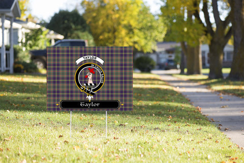 ScottishShop Taylor Yard Sign - Tartan Crest Yard Sign