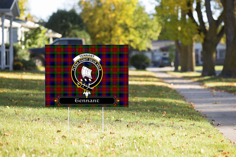 ScottishShop Tennant Yard Sign - Tartan Crest Yard Sign