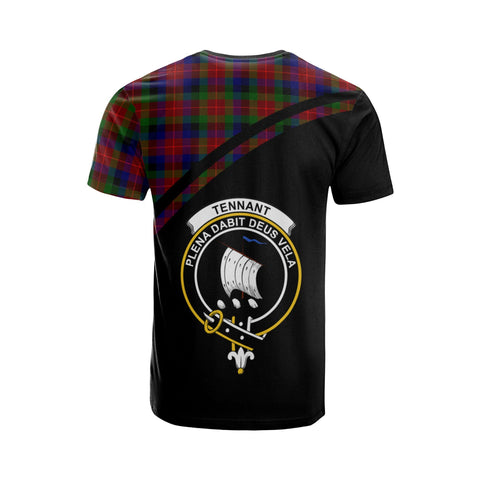 Tartan Shirt - Tennant Clan Tartan Plaid T-Shirt Curve Version Back