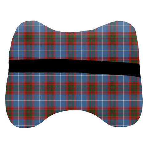 Tartan Head Cushion - Trotter Head Cushion With Clan Crest