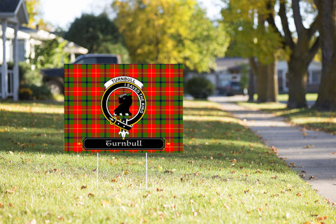 ScottishShop Turnbull Yard Sign - Tartan Crest Yard Sign