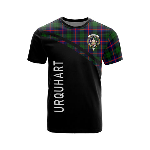 Image of Tartan Shirt - Urquhart Clan Tartan Plaid T-Shirt Curve Version Front