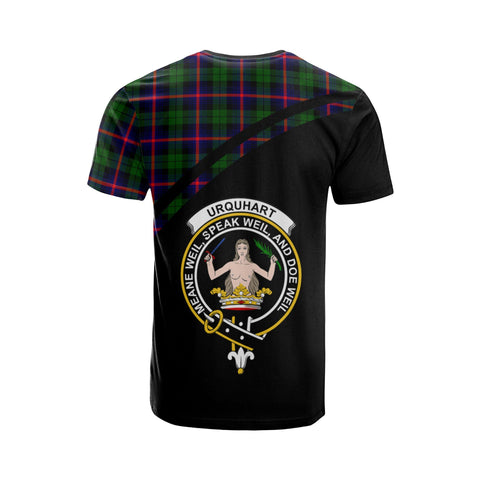 Image of Tartan Shirt - Urquhart Clan Tartan Plaid T-Shirt Curve Version Back