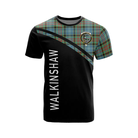 Tartan Shirt - Walkinshaw Clan Tartan Plaid T-Shirt Curve Version Front