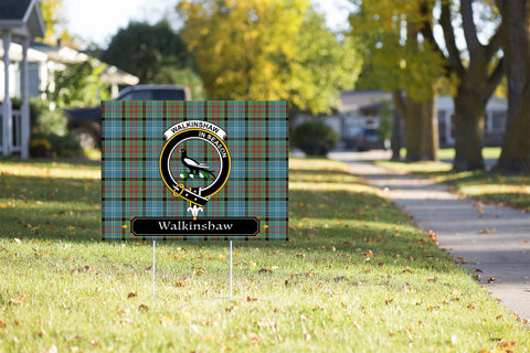 ScottishShop Walkinshaw Yard Sign - Tartan Crest Yard Sign