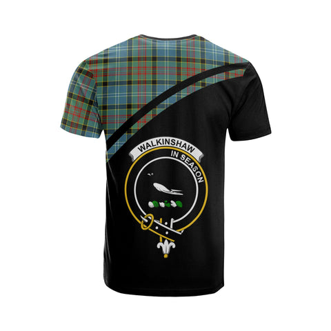 Tartan Shirt - Walkinshaw Clan Tartan Plaid T-Shirt Curve Version Back