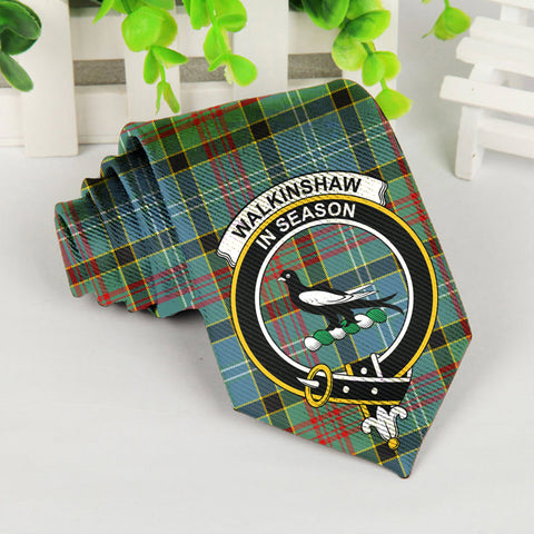 Image of ScottishShop Tartan Necktie - Walkinshaw Tartan Tie Clan Crest