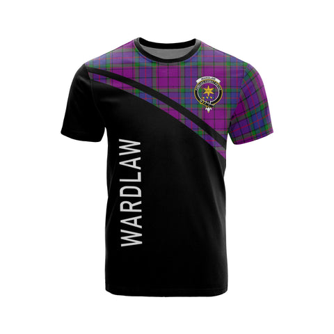 Image of Tartan Shirt - Wardlaw Clan Tartan Plaid T-Shirt Curve Version Front
