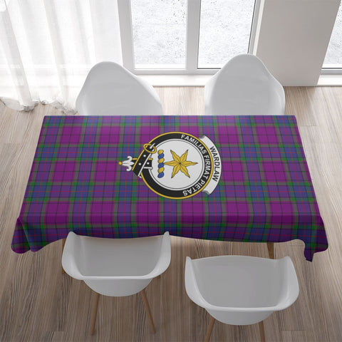Wardlaw Crest Tartan Tablecloth | Home Decor