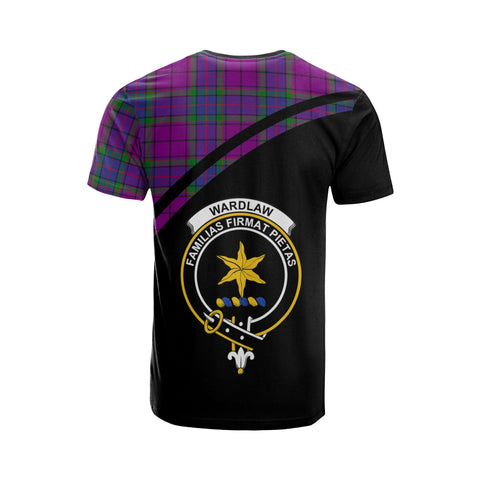 Tartan Shirt - Wardlaw Clan Tartan Plaid T-Shirt Curve Version Back