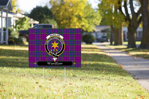 ScottishShop Wardlaw Yard Sign - Tartan Crest Yard Sign